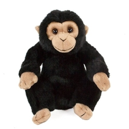 Teddys Rothenburg Kuscheltier Schimpanse sitzend schwarz/beige 18 cm Plüschaffe Plüschtier Stofftier Spielzeug Plüsch Monkey Chimp - 1