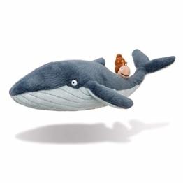 The Snail on the Whale 61328 Aurora, 61238, Die Schnecke und der Blauwal, 20cm, Plüschtier, Grau und Blau, Bluegrey - 1