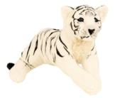 Tiger weiß liegend Plüschtier ca. 60 cm Kuscheltier Softtier Raubkatze Stofftier - 1