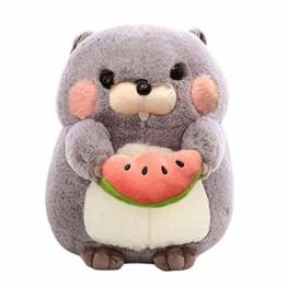 TOYANDONA Hamster Plüsch Kissen Cartoon Murmeltier Puppe Kuscheltiere Spielzeug Weichen Plüsch Kinder Spielzeug Geschenk - 1