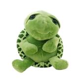 Toyvian Grüne Schildkröte Stofftier Plüschtier Kawaii Große Augen Bauch Schildkröte Puppe Großes Geschenk 30 cm - 1