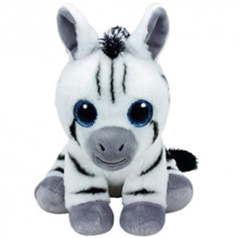 TY T96309 Stripes 96309 Zebra Pluschtier mit Glitzeraugen, Mehrfarbig - 1