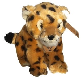 Unbekannt Gepard Plüschtier ca. 20 cm Plüschfigur Stofftier Raubtier sitzend - 1