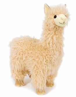 Unbekannt Stofftier Alpaka, 33 cm, beige, Kuscheltier Plüschtier, Lama, Premium Edition - 1