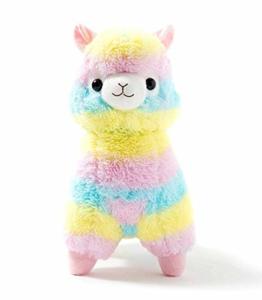 Uni-Wert Plüsch Alpaka 50 cm Regenbogen Puppe Alpaka Weich Baby Kuscheltier Spielzeug für Geschenke Geburtstag Weihnachten Hochzeitstag Rainbow Alpaca - 1