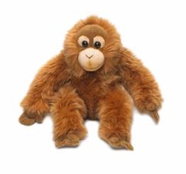 Universal Trends 15191004 WWF16111 WWF Plüsch Orang-Utan Baby, realistisch gestaltetes Plüschtier, ca. 23 cm groß und wunderbar weich, braun - 1