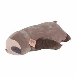 UNUS Seitenschläferkissen Stillkissen Lagerungskissen Faultier Kissen für Kinder Dekoration extrem weich 75 cm Grau - 1