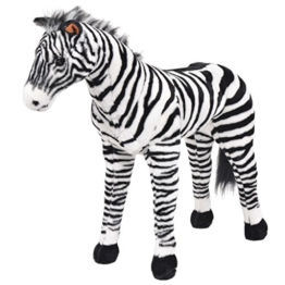 vidaXL Plüschtier Stehend Zebra XXL Plüschspielzeug Stofftier Kuscheltier - 1
