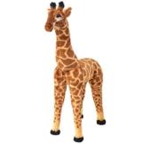 vidaXL Stehendes Plüschspielzeug Giraffe XXL Stofftier Kuscheltier Plüschtier - 1