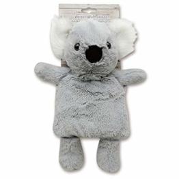 Wärmetier Koala mit herausnehmbarem Körnerkissen zum Erwärmen in der Mikrowelle, Plüschtier und Wärmekissen in einem, 35 cm hoch, Wärmekissen mit Körnerbeutel mit Weizen + Lavendelsamen - 1