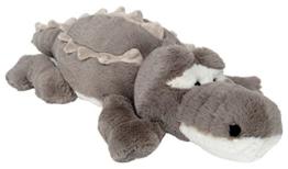 Wagner 6032 - Plüschtier Krokodil Alligator - 72 cm Plüschkrokodil Stoffkrokodil grau - 1