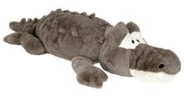 Wagner 6033 - XXL Plüschtier Krokodil Alligator - 120 cm Gross Plüschkrokodil Stoffkrokodil Plüsch grau - 1