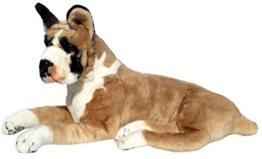 Wagner Plüschtier Hund Boxer - liegend - 72 cm Kuschelhund Stofftier - 1