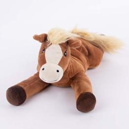 Warmies® Wärmekissen/Stofftier Pony Hirse Lavendelfüllung 40cm 700g - 1