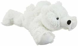 "Warmies® Wärmekissen/Stofftier""Eisbär"" herausnehmbare Hirse Lavendelfüllung 35cm 700g - 1"