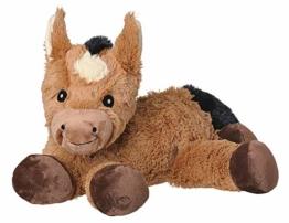 Welliebellies Wärmekuscheltier für Kinder - Wärmekissen gegen Schmerzen und zum Wohlfühlen - Wohltuender Kräuterduft durch Rosmarin und Lavendel, Eukalyptus & Pfefferminz - groß (Pferd) - 1