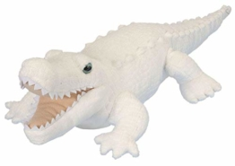 Wild Republic 11559 12259 Caimán Blanco Peluches Plüsch Weißer Alligator, Krokodil, Cuddlekins Kuscheltier, Plüschtier, 30 cm - 1