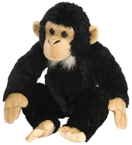 Wild Republic 15310 Republic 16521 Chimpancé de Peluches Plüsch Schimpanse, Cuddlekins Kuscheltier, Plüschtier, 30 cm - 1