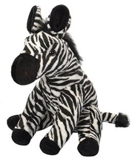 Wild Republic 17637 19378 Plüsch Zebra, Cuddlekins Kuscheltier, Plüschtier, 30 cm - 1