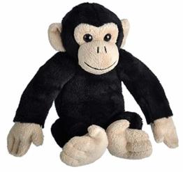 Wild Republic 23323 Schimpanse Kuscheltier, Wild Calls Stofftier mit Originalsound, Plüschtier, 20 cm, Multi - 1
