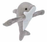 Wild Republic Huggers Schnapparmband Kuscheltier, Plüschtier, Delfin 20 cm - 1