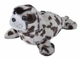 Wild Republic Plüsch Seehund, Cuddlekins Kuscheltier, Plüschtier 20 cm, Grau, 22451 - 1