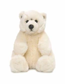 WWF 15187004 WWF16867 Plüsch Eisbär sitzend, realistisch gestaltetes Plüschtier, ca. 22 cm groß und wunderbar weich - 1