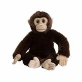 WWF 15191052 WWF00352 Plüsch Schimpanse, realistisch gestaltetes Plüschtier, ca. 30 cm groß und wunderbar weich - 1
