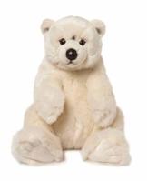 WWF WWF00478 Plüsch Eisbär sitzend, realistisch gestaltetes Plüschtier, ca. 32 cm groß und wunderbar weich - 1