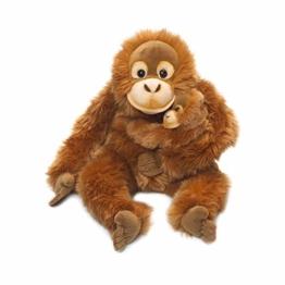 WWF WWF16112 Plüsch Orang-Utan Mutter mit Baby, realistisch gestaltetes Plüschtier, ca. 25 cm groß und wunderbar weich, braun - 1