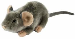 Zaloop Maus grau ca. 17 cm Plüschtier Kuscheltier Stofftier Plüschmaus 45 - 1