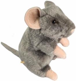 Zaloop Maus sitzend Plüschtier Kuscheltier Stofftier Plüschmaus 211 - 1