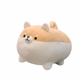40 cm Shiba Inu Plüsch Gefüllte Weiche Kissen Puppe Niedlichen Cartoon Fetten Hund Dekoration Plüschtier (Braun, 40 cm) - 1