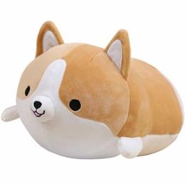 Anime Plushie Shiba Inu Hugging Pillow Shiba Plushie Toy Cute Corgi Plushie Kuscheltier Hund Tiere Spielzeug Süßer Plüsch Shiba Inu Spielzeug Plüschtier Weicher Plüsch Liegend Schlafplüsch 13,7 Zoll - 1