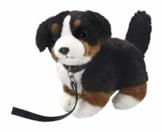 Carl Dick Berner Sennenhund mit Leine stehend aus Plüsch, ca. 25cm 3306 - 1