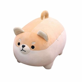 DIYARTS Hundekissen Plüschtier Weiche Welpenpuppe Nettes Fett Shiba Inu Anime Gefülltes Comfortable Dog Doll Cushion Toys Cute Shiba Inu Soft Pillow Cushion, Mädchen (40cm) - 1