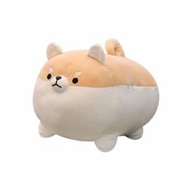 """Ecisi Corgi Hund Plüsch Kissen, 15,75""""Hund Plüsch Puppe gefüllt Shiba Inu 3D Tier Zoo Haustier Dekokissen, weiche süße Shiba Inu Akita Kuscheltiere Spielzeug Geschenke - 1"""