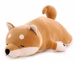 Fortuning's JDS Shiba Inu Umarmungskissen Plüsch weich Kinder schlafen Komfort Kissen Spielzeug, 30'' - 1
