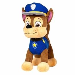 JuniorToys Design für Paw Patrol Plüschtier 28cm Helfer auf Vier Pfoten als kuschelige Plüschhunde (Chase Polizei Schäferhund) - 1