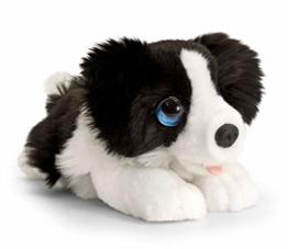Lashuma Plüschtier Hund Border Collie, Keel Toys Kuscheltier Schwarz - Weiß 25 cm - 1