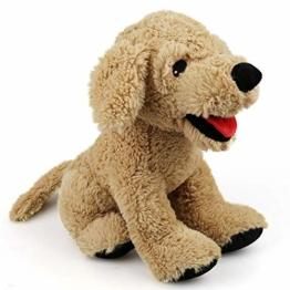 LotFancy Hund Kuscheltier Plüschtier 30cm Golden Retriever, Groß Weich Plüsch-Hund, Kuschelig Geschenk für Kinder Mädchen Freundin - 1