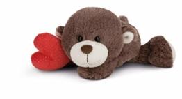 NICI 44435 Kuscheltier Love Bär Junge mit Herz 20cm liegend, beige, 20 cm - 1