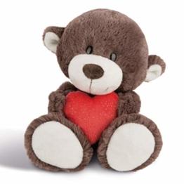 NICI Plüschtier Love Bär Junge mit Herz 30 cm – Kuscheltier Teddybär mit Herz für die Liebsten – Flauschiges Teddy-Stofftier zum Kuscheln, Spielen und Schlafen – Gemütliches Schmusetier I 44429 - 1