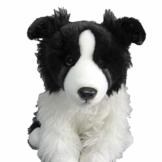 Pamer-Toys Plüschtiere, Stofftiere, Kuscheltiere - Border Collie sitzend, schwarz-weiß - 1