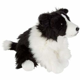 Plüsch Hund Border Collie sitzend - ca. 30 cm - schwarz / weiß - 1