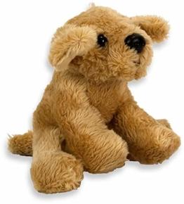 Plüsch Hund Golden Retriever 10cm Kuscheltier | Hund | Spielzeug | Geschenk | Mädchen | Jungen | - 1