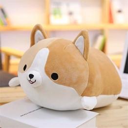 QHJ Plüschtier Anime Shiba Inu Plüsch Gefüllte Sotf Kissen Puppe Cartoon Doggo Nette Shiba Stofftier, Sende eine Freundin, um Kinder zu schicken Geburtstagsgeschenk, 【Brown】 - 1
