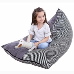 Sitzsack für Kinder, Spielzeug, Aufbewahrung, Organizer, extra groß, super weicher Samt, für Kinder, Jugendliche und Erwachsene - 1