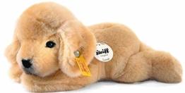 Steiff 280160 Lumpi Golden Retriever Welpe 22 liegend Hund, GOLDBLOND - 1