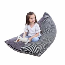 Stofftier Aufbewahrung Sitzsack - Große Sitzsack Stühle für Kinder Plüschtier Aufbewahrung, Kapazität Kristall Samt Sitzsack Beutel Kinder Streifen Stuhl - 1